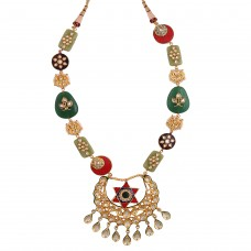 Assymetric kundan necklace