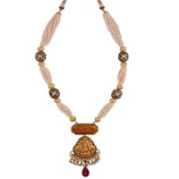 Pearl temple necklace
