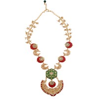 Coral chand necklace