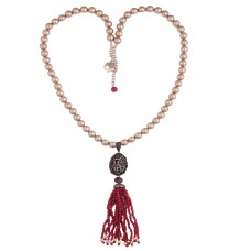 Charming red tassel necklace