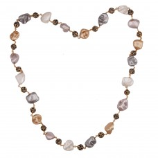 Multi shell pearl necklace