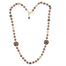 Strawberry quarts necklace