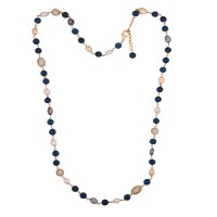 Exotic blue agate chain