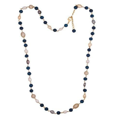 Exotic blue agate chain