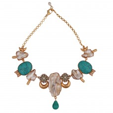 Turquoise baroque Diva necklace