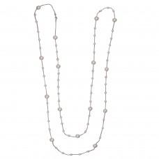 Gloria pearl Chain rhodium