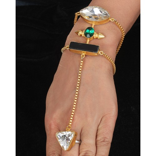 Champagne Crystal hand harness