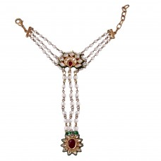 Red Flower kundan haatphool