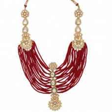 Aditi red crystal necklace
