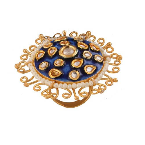 Meera enamel ring Royal Blue