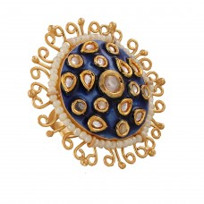 Meera enamel ring Royal Blue