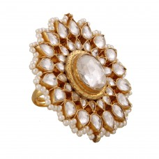 Jadau flower Ring