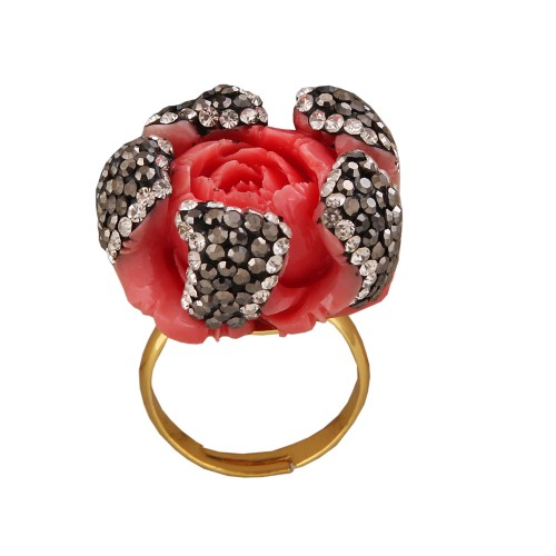 Coral flower Ring