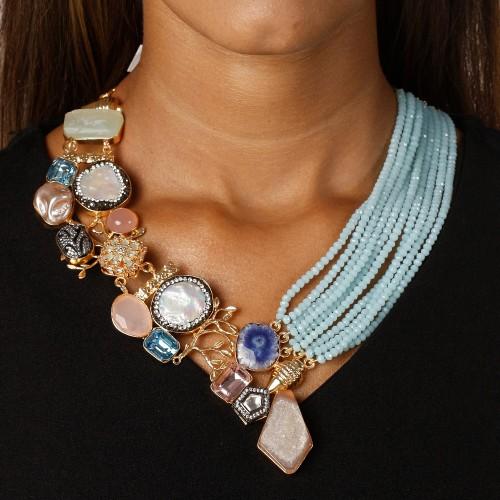 Aria statement necklace