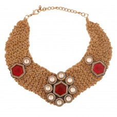 Crochet Gold Chain Necklace