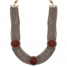 Zahra grey Necklace