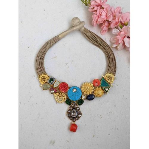 Aadhya Jute necklace