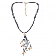 Sara Denim Blue Necklace