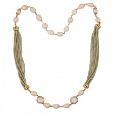 Baroque Splendor Olive Necklace
