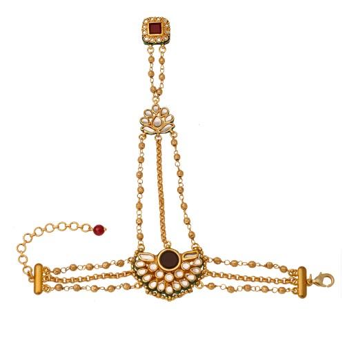 Golden beads haatphool