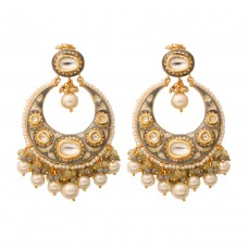 Colorful Chandbali earrings