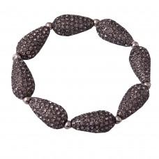 Drop shaped oxidized bracelet
