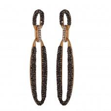 Sleek crytal earrings