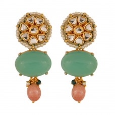 Amira Flourite Green Earrings