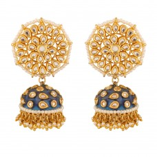 Alia Royal Blue Meenakari Jhumka